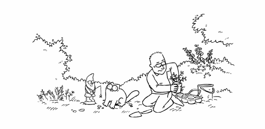 Flower Bed - Simon's Cat