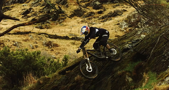 Gee Atherton gets hunted by a Peregrine Falcon 540px